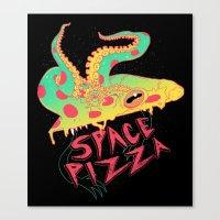 Space Pizza Canvas Print
