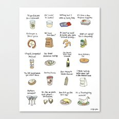 Foods of Arrested Development - Season 4 Canvas Print