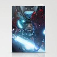 Zero suit Iron Man  Stationery Cards