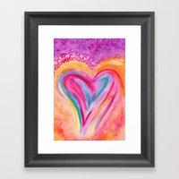 Heart Afire Framed Art Print