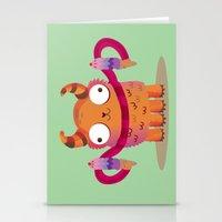 Icecream monster Stationery Cards