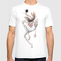 Fragmented Space Traveler Mens Fitted Tee White SMALL