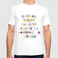 Emoji Baptism Mens Fitted Tee White SMALL