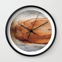 Planetary Bodies - Rust Wood Wall Clock