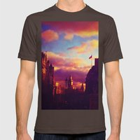 London Sunset Mens Fitted Tee Brown SMALL