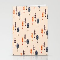 feather Stationery Cards featuring Feather by Irinv