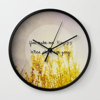 You Make Me Happy When S… Wall Clock