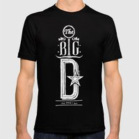 The Big D (wht) Mens Fitted Tee Black SMALL