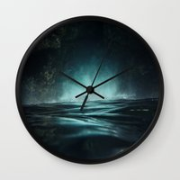 Surreal Sea Wall Clock