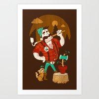Green Thumberjack Art Print