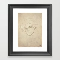 One Line Ellen Ripley Framed Art Print