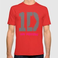 1 Direction Mens Fitted Tee Red SMALL
