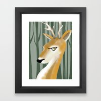 Deer Framed Art Print