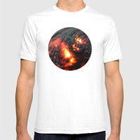 Flaming Seashell 4 Mens Fitted Tee White SMALL
