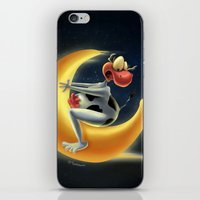 Crazy Moon Cow iPhone & iPod Skin
