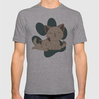 Mama, Mew...Mew... Mens Fitted Tee Athletic Grey SMALL