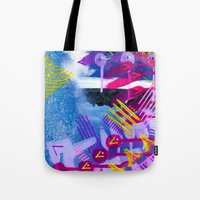 Wave Purple Tote Bag