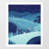 Midnight Stroll Art Print