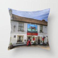 The Bull Pub Theydon Bois Panorama Throw Pillow
