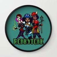 RonkyTonk Halloween Roll… Wall Clock