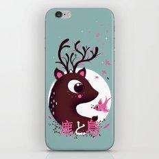 la biche et l'oiseau iPhone & iPod Skin
