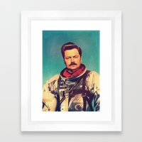 American Hero Framed Art Print