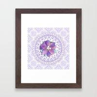 Delphinium Lace Framed Art Print