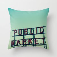 public market... Throw Pillow