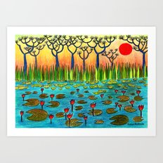 Nymphaeas Art Print