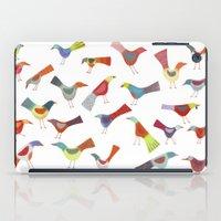 Birds doing bird things iPad Case