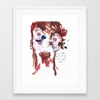 Jesus Candice you've left gin in the teapot again! Framed Art Print