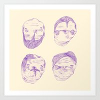 Purple Heads  Art Print