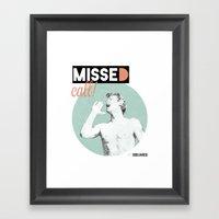 Missed Call! Framed Art Print