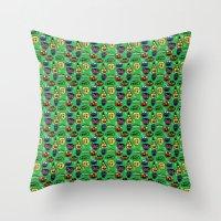 Sesame Street Pattern Throw Pillow