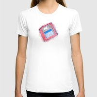 Disk Womens Fitted Tee White SMALL