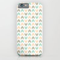 iPhone & iPod Case featuring Pattern: Olive + Peach Arrows by ajoo