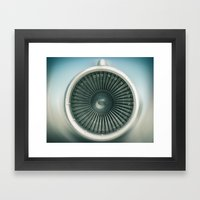 Engine Air Framed Art Print