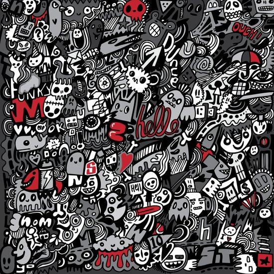 Doodled To Death Art Print