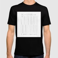Hug and Share Flip-Book Mens Fitted Tee Black SMALL