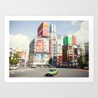 Tokyo Candyland Colors Art Print