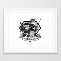 Diamond Sponges Framed Art Print