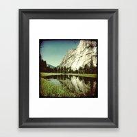 Yosemite Under Water Framed Art Print
