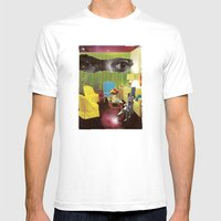 Eyes Across The Universe Mens Fitted Tee White SMALL