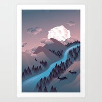 Sunquake Art Print