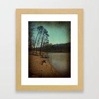 Riverbank Curve Framed Art Print