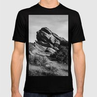 Vasquez Rocks Mens Fitted Tee Black SMALL