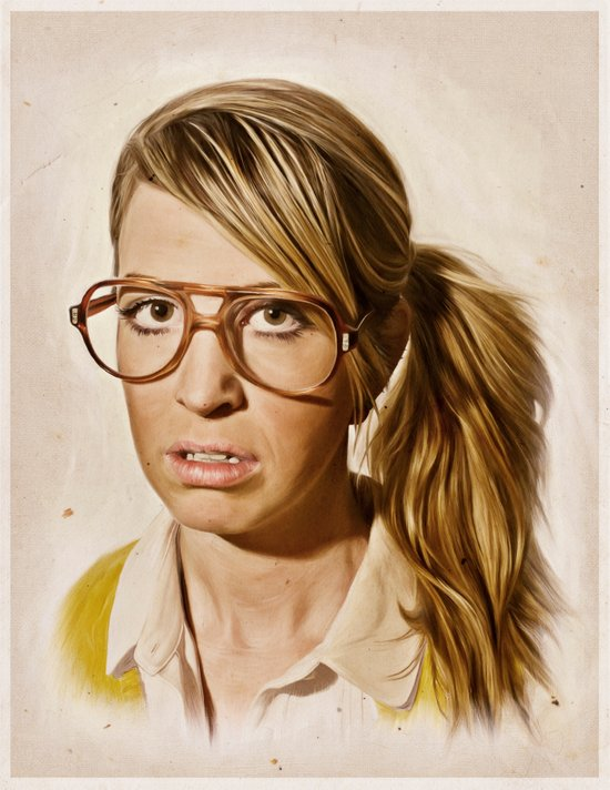 i.am.nerd. : Lizzy Canvas Print