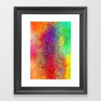 aa 2 colourful digital abstract Framed Art Print