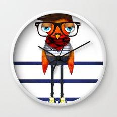 Hipster Bird Wall Clock