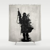 Post Apocalyptic Warrior Shower Curtain